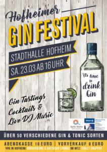 Plakat zum 2. Hofheimer Gin Festival am 23. März 2019