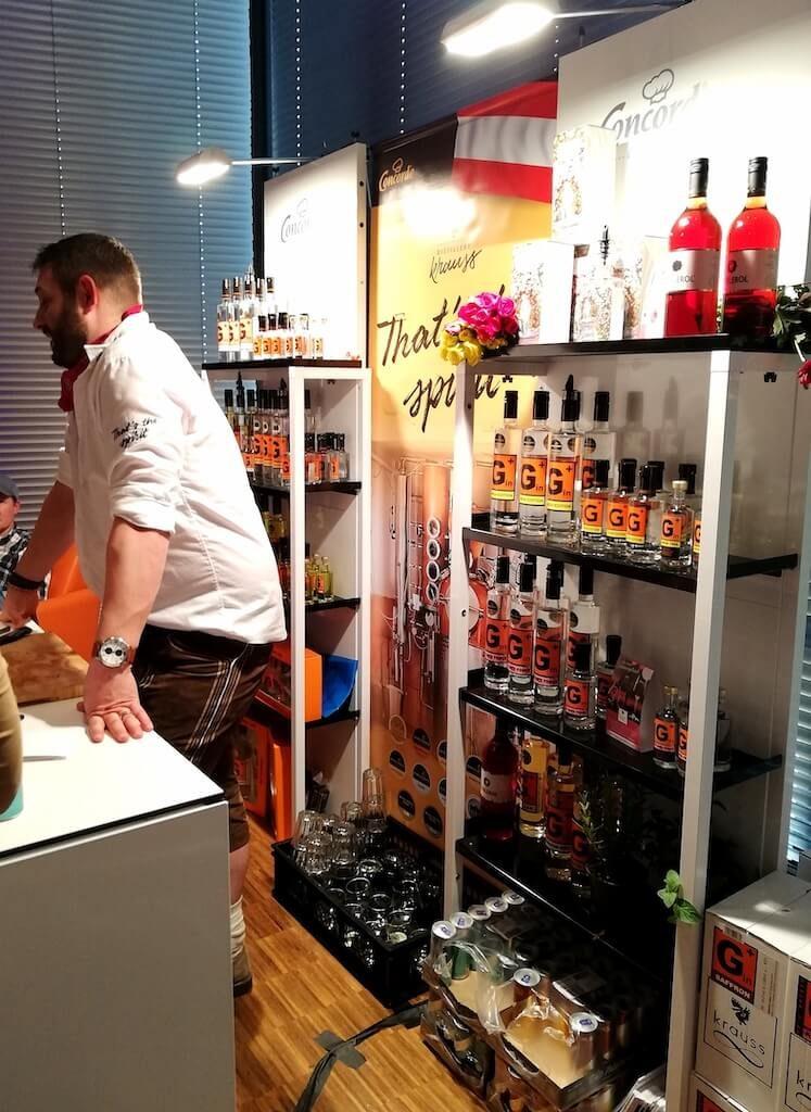 Stand der Concorde GmbH mit G+ Gin auf dem Hofheimer Gin Festival