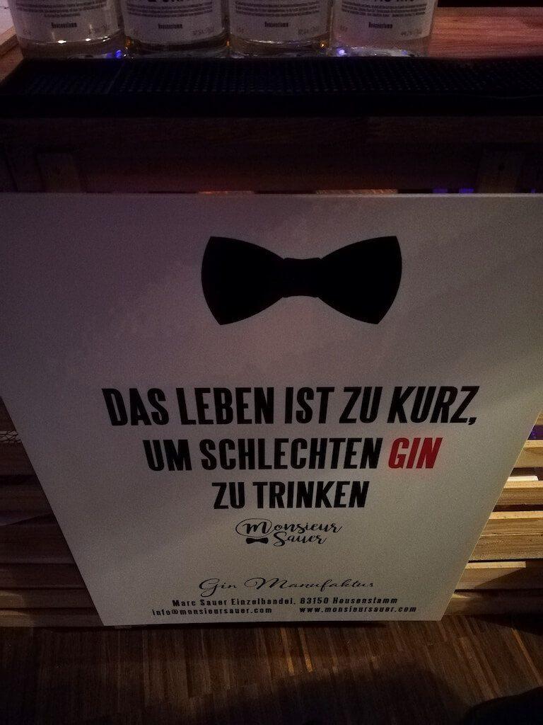 Poster der Gin Manufaktur auf dem Hofheimer Gin Festival